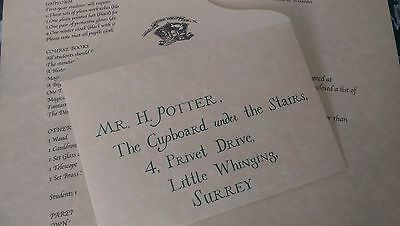 Harry Potter Personalised Acceptance Letter, Official Warner Bros Tour Parchment