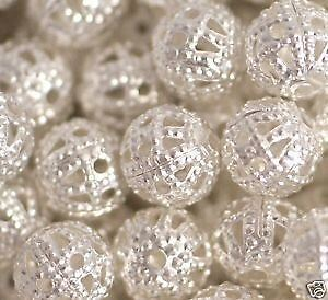 100pcs Silver Plated Beads 6mm for Artwork/Jewellery making/Craft