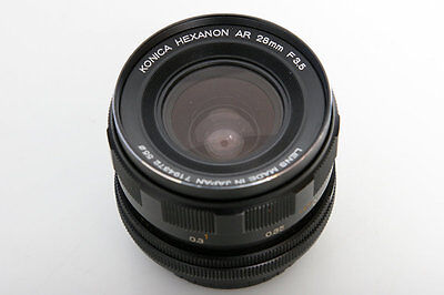 Konica Hexanon AR 28mm f3.5 Wide Angle Lens