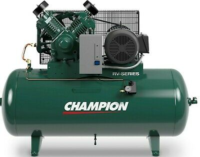 Industrial Air Compressor Hrv10-12 10 Hp 120 Gal 3 Phase Start/stop 230 Volt