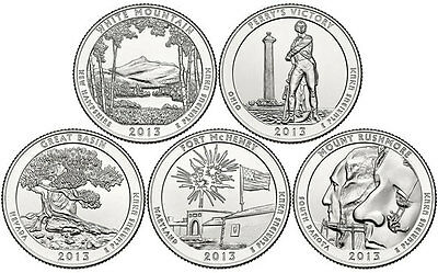 2013 P&D All 10 National Park Quarters White MT Perrys GB Ft McHenry Mt Rushmore