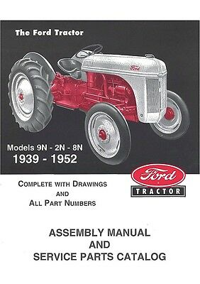 Ford 9N 2N 8N Tractor Parts / Assembly Manual on CD Rom