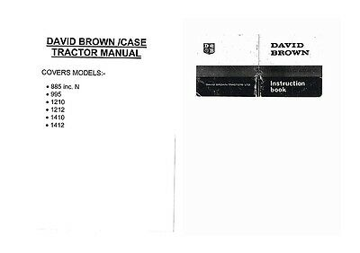 David Brown Tractor Workshop Manuals on CD Rom