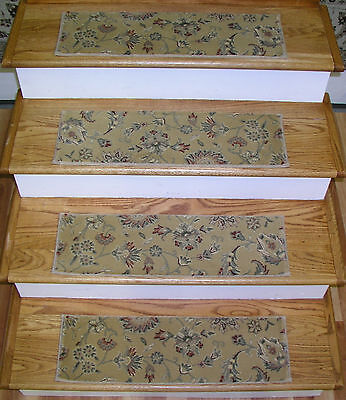 """153704 - Rug Depot Premium Stair Treads - Set of 13 Treads 26"""" x 8"""" - Champagne"""