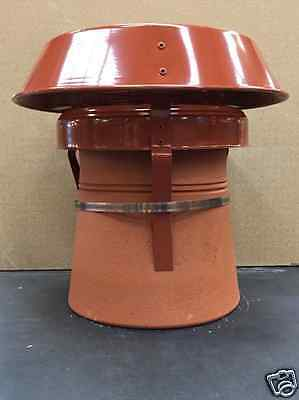 mad senior anti down draught Cowl terracotta strap fix for round chimney pots