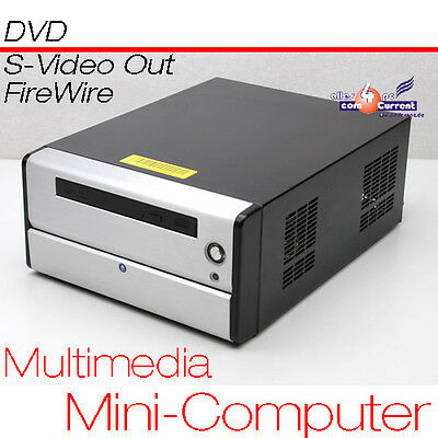 Absolute Silent Multimedia Mini Computer PC DVD Intel CPU S-Video TV-Out 160GB