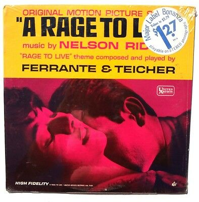 A RAGE TO LIVE OST LP UAL4130 1965 Nelson Riddle Ferrante Teicher SEALED M 02C