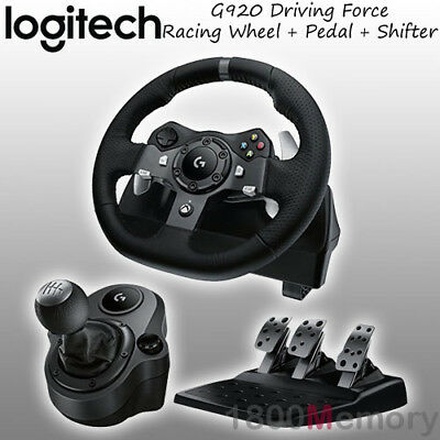 Logitech G920 Driving Force Racing Wheel for Xbox One PC MAC with Gear Shifter