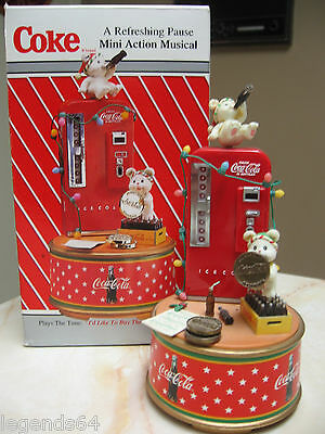 Coca Cola Mini Action Musical / A Refreshing Pause Wind Up Musical  - Nib