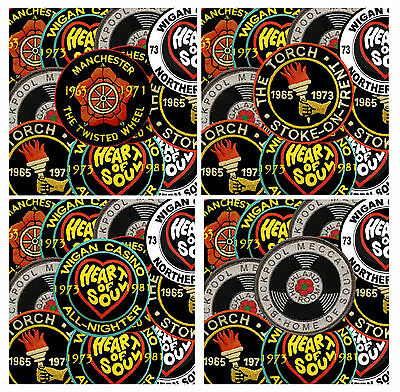 Northern Soul (Patches) - Set Of 4 Coasters - Brand New - Gift