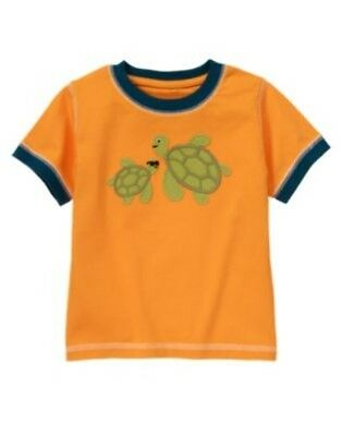 Gymboree Gone Surfin' Orange Baby Turtle With Daddy S/s Tee 3 6 12 18 2T 3 5 Nwt