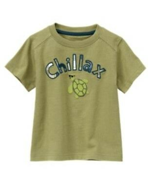GYMBOREE GONE SURFIN' OLIVE TURTLE Chillax S/S TEE 3 6 18 24 2T 3T 5T NWT