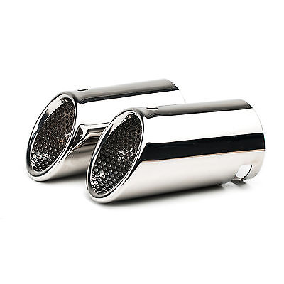 CHROME 2PCS EXHAUST TAIL MUFFLER TIP PIPE for VW CC EOS 06-12 Passat B6