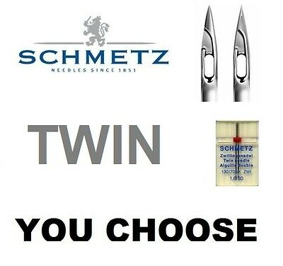 Sewing Machine TWIN Needle Schmetz FULL RANGE in stock Standard or Stretch