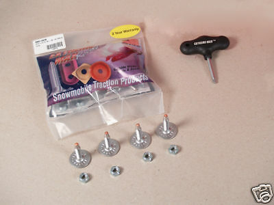 """1.15"""" 144  Snowmobile Studs Track Pack Nuts Round Backers 2 Year Warranty"""
