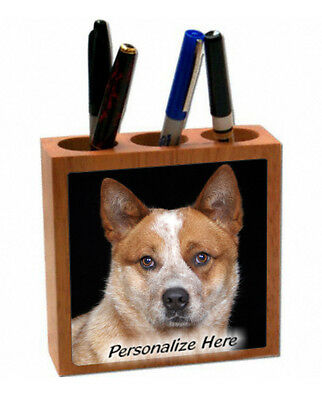 Australian Cattle Dog  red  color   ( 3 )   Personalized  Pencil and Pen Holder