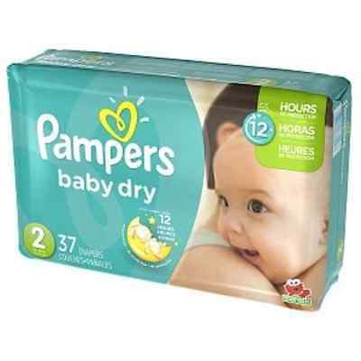 Pampers Baby Dry Size 2  37 Diapers