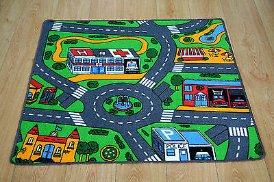 Great Fun For Kids! Childerns Play Mat Bedroom Rug Mat Road Cars Play Time 67cm