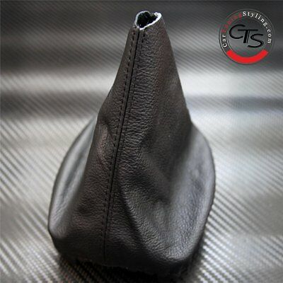 Vw Golf Mk5 Jetta Black Leather Gear Stick Knob Cover Gaiter New