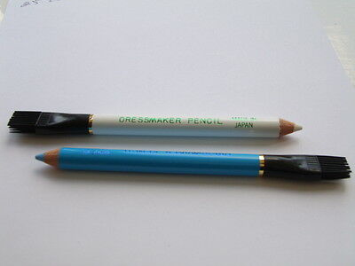 1 Dressmakers/Crafters Pencil/Tailors Chalk Pencil with brush for erasing