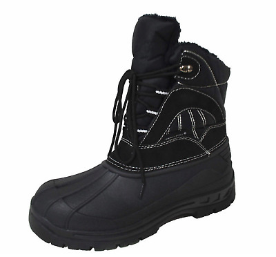 Men's Waterproof Warm Insulated Lace up Comfort Cold Winter Snow Boots Shoes Y05