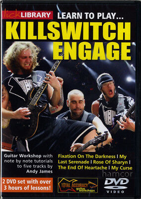 Learn to Play Killswitch Engage Lick Library Guitar DVD Set Rock Metal Shred