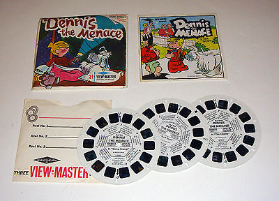 1967 Dennis The Menace Sawyers VIEW MASTER #B539 Complete FREE SHIP