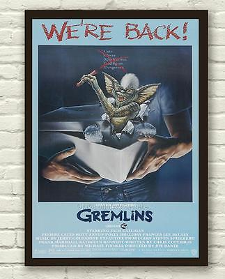 Classic Funny Gremlins Movie Film Poster / Print / Picture A3 A4 Size