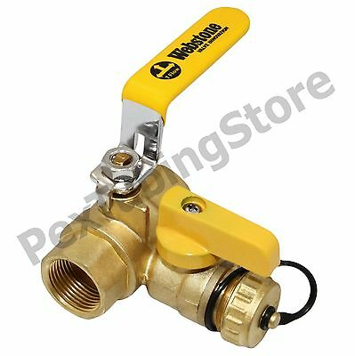 "1"" IPS Threaded Webstone Pro-Pal Ball Drain/Purge Valve #40614"