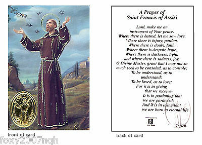 Saint Francis Of Assisi Prayer Card - Religious Verse Holy Card