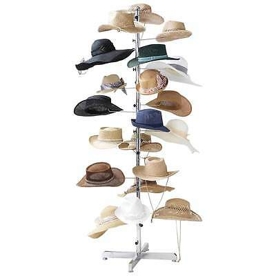 """NEW - Casual Outfitters Retail Floor Display Hat Rack 72"""" Tall Holds 20 Hats"""