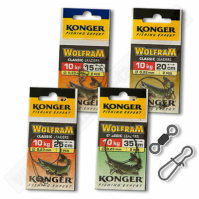 Tungsten Wolfram Wire Leader Trace 10kg 22lb Sea Fishing Tackle Pike Perch
