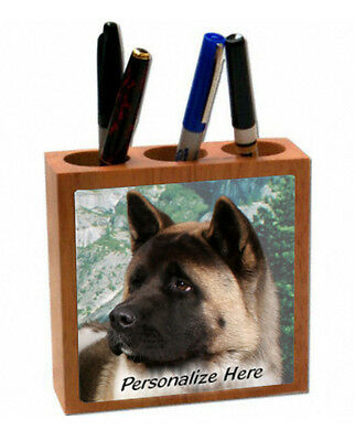 Akita     light color    ( 3 )   Personalized  Pencil and Pen Holder