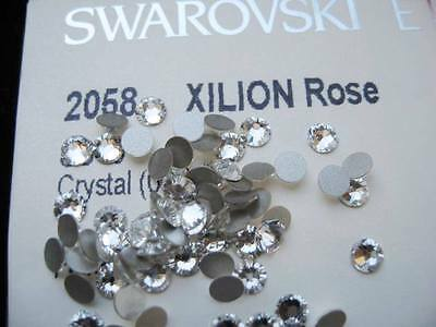 Clear Swarovski Flatback Crystals 2058 Non Hot Fix ALL SIZES Gluefix Non Bead