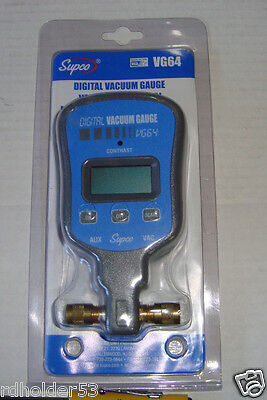 Supco VG64  Digital Vacuum Gauge  From 12,000 Microns Down to 10 Microns