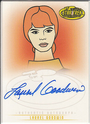 Star Trek Animated Adventures A30 Laurel Goodwin auto