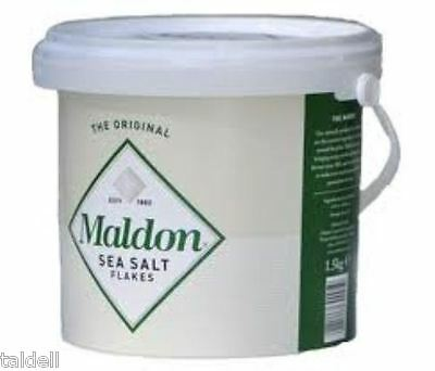 Famous Maldon Sea Salt - 1.5 Kilo Bucket!