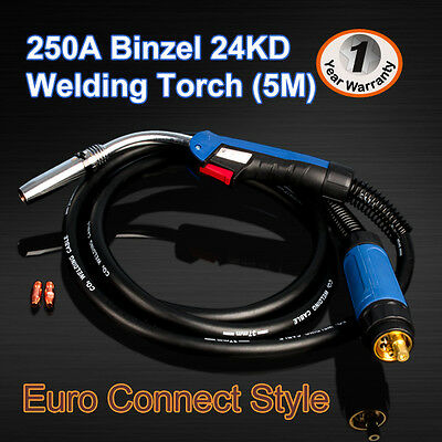 Binzel Style 24KD MIG/MAG/CO2 Welding Torch Euro Connector 5M (Air - Cooled)