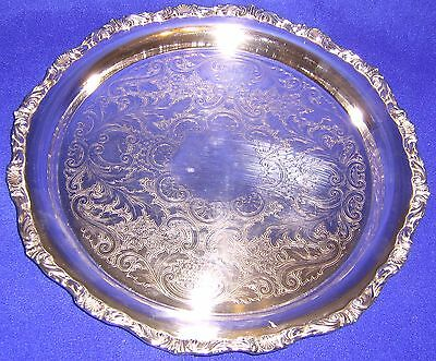 Silver Tray with Ornate Edging - SHIPPING INCLUDED
