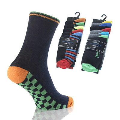 New Boys Childrens Kids 5 Pair Pack Cotton Rich Socks All Sizes
