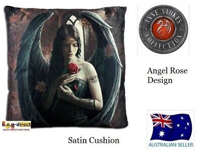 Anne Stokes Myth & Fantasy ANGEL ROSE CUSHION printed Satin Cushion Pillow NEW