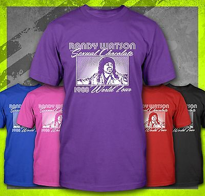 Randy Watson Sexual Chocolate Funny Coming To America 1980's Retro T-Shirt Tee
