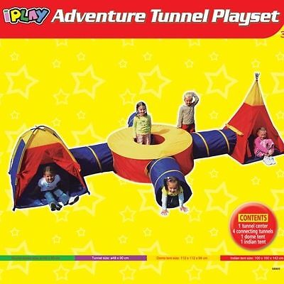 Large Play Tent Kids Toddlers Teepee Tunnel Pop Up Children baby Cubby Playhouse