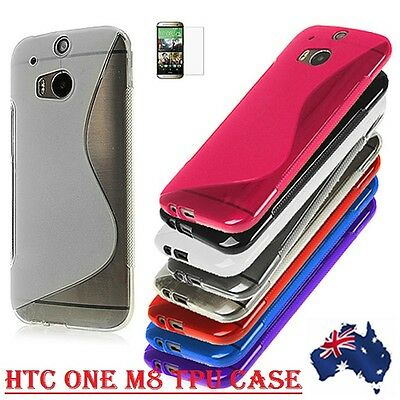 Tpu S-Line Silicon Gel Case Cover For Htc One M7 / M8 / M9