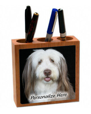 Bearded  Collie   Personalized  Pencil and Pen Holder