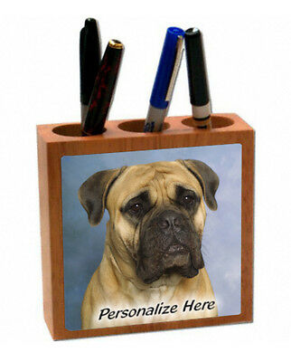 Bullmastiff   fawn color   ( 2 )  Personalized  Pencil and Pen Holder