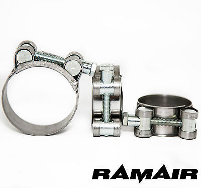 RAMAIR ZERO W2 17-19mm Stainless Super-Heavy Duty Hose Clamp Exhaust Pipe Clamp