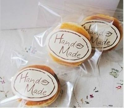 Hand Made Sticker Oval Label Self Cooking / Home Baking / Handmade Products