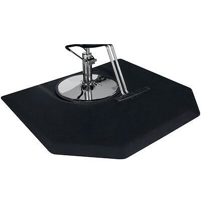 """Barber Salon Styling Chair Mat 4 x 5 Hexagon 1"""" with Round Impression SM-07"""