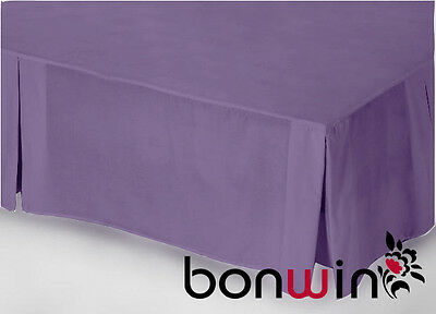King Size 100% Pure Egyptian Cotton 1000TC Valance Bed Skirt in GRAPE Purple